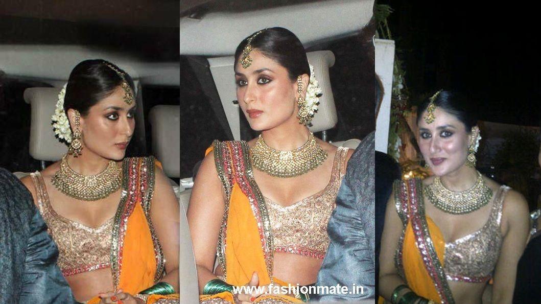 kareena Kapoor Sangeet dress bridal outfit at her Wedding   india ...