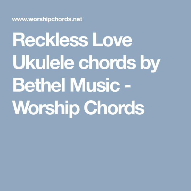 reckless love sheet music
