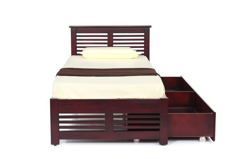 Konark Single Cot With 1 Storage Custom Made Furniture Cot With Storage Furniture Jfa furniture showroom chennai