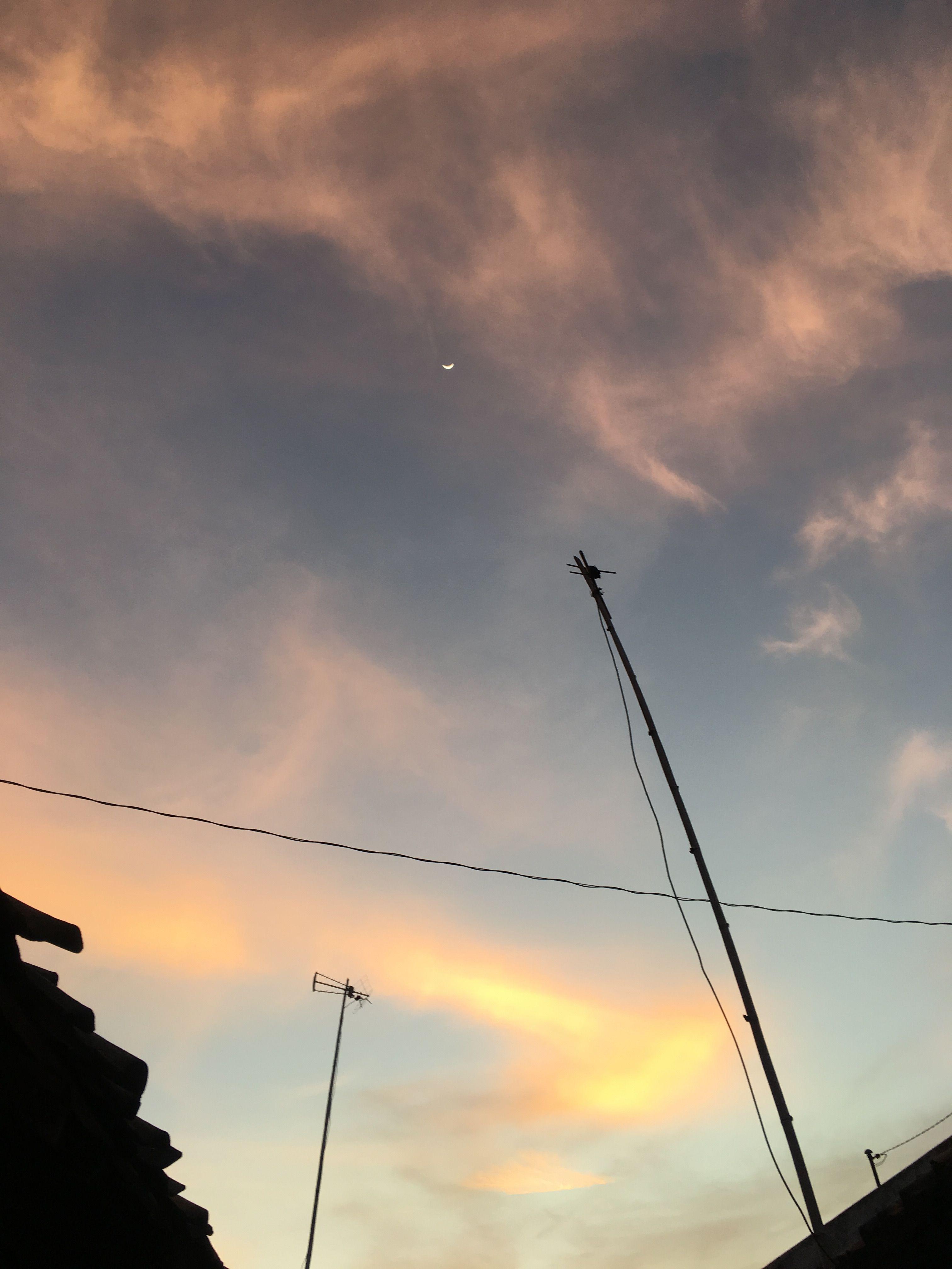 Langit sore hari Langit, Alam, Lukisan