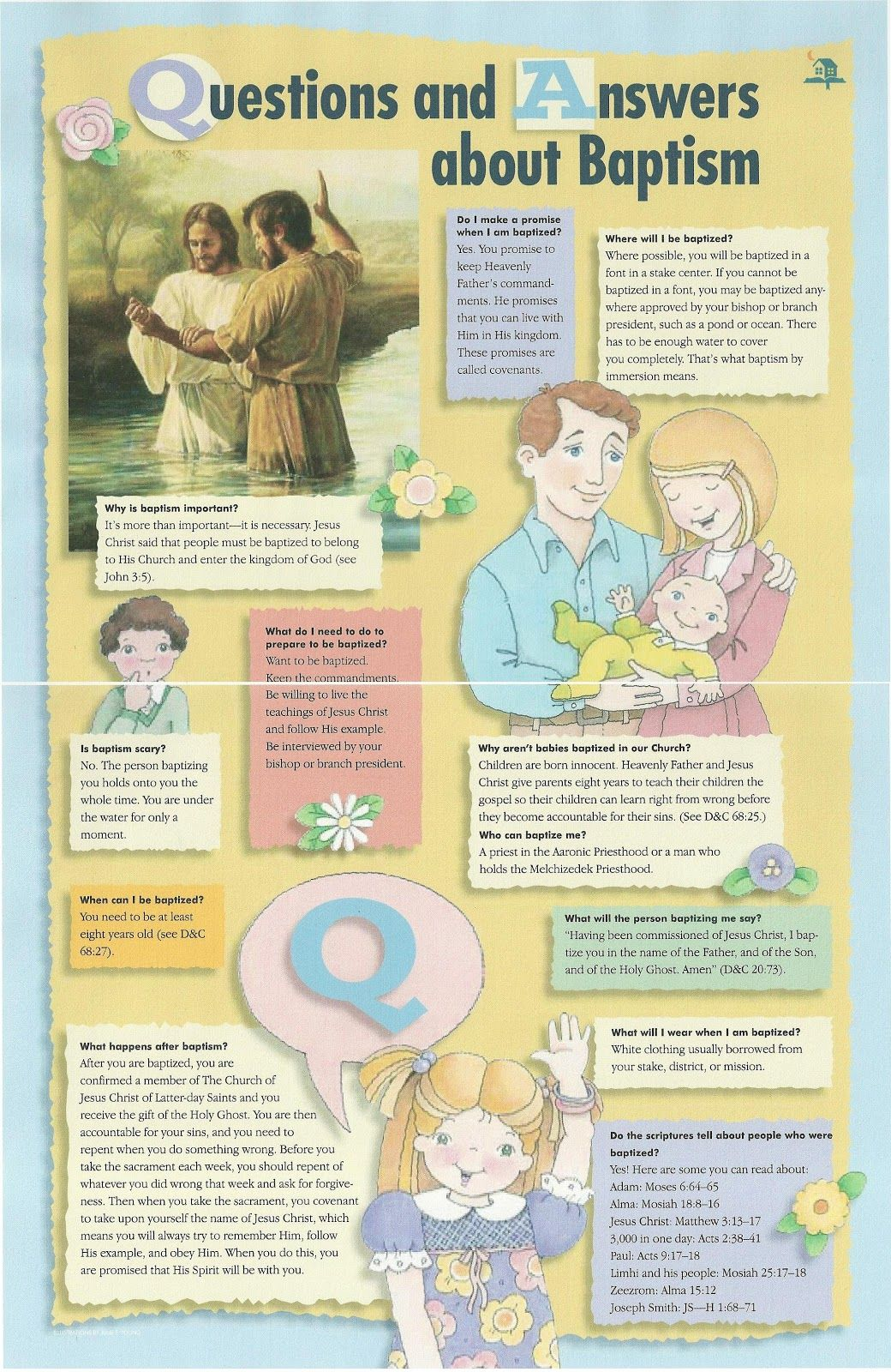 Primary 2 Lesson Manual 12 I Can Prepare For Baptism Should Mention That Demonstrate With Each Children How Their Father