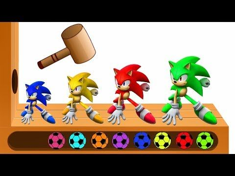 Learn Colors With Sonic Wooden Face Hammer Xylophone The