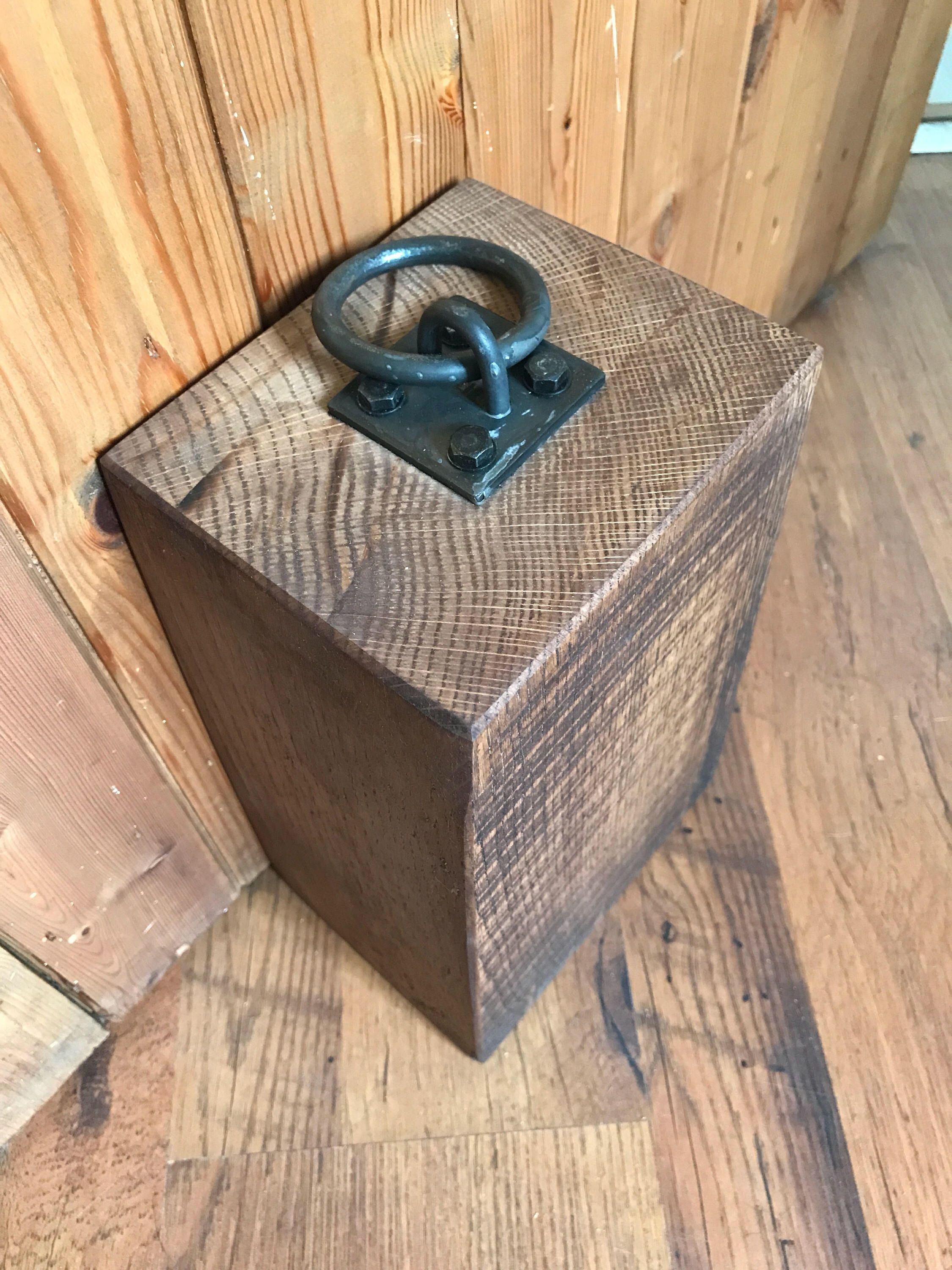 Large Door Stop Heavyweight Oak Door Stop Large Door Stop Wooden Door Stop