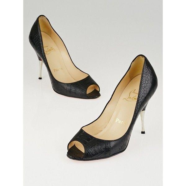 4f0d90b19920 Pre-owned Christian Louboutin Black Ostrich Leg Leather Yotruche 100...  ( 320