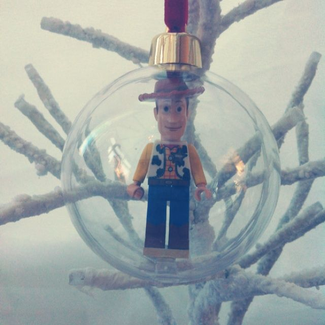 Large Lego mini figure woody bauble - The Supermums Craft Fair