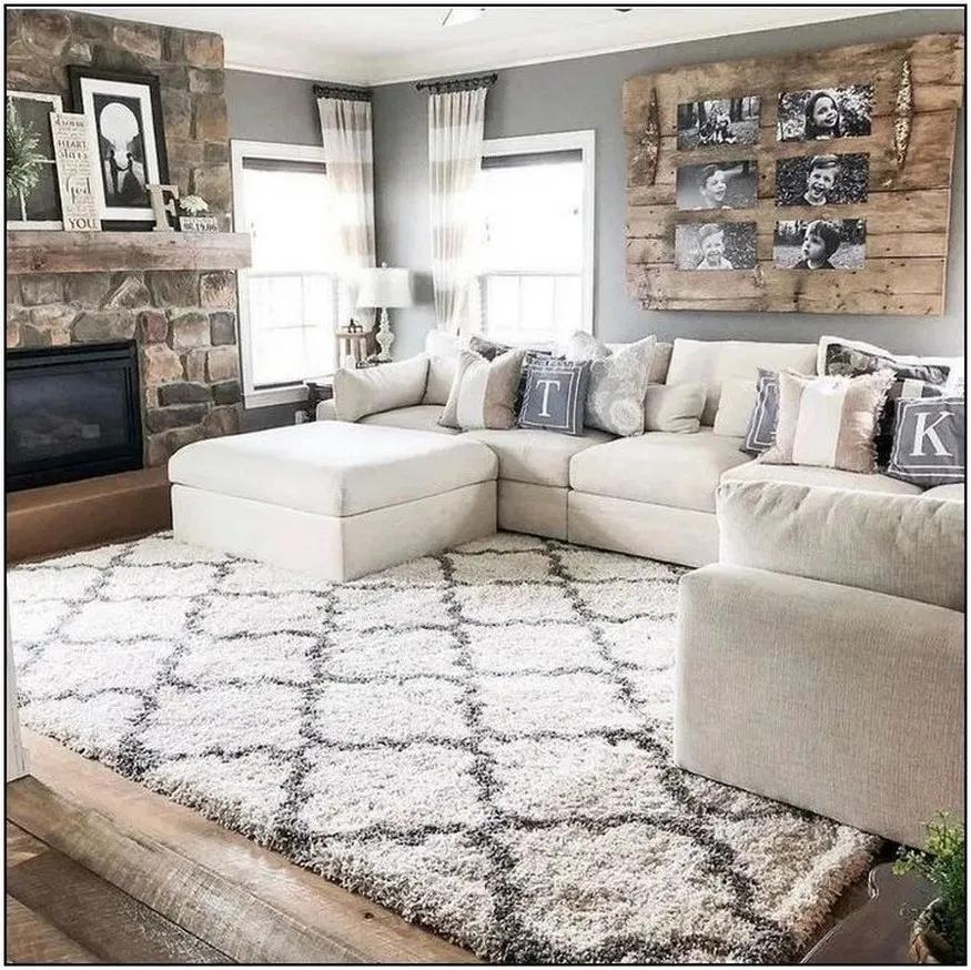 60 Amazing Home Living Room Sofa Design And Decorating Ideas 10 Irma Farm House Living Room Modern Rustic Living Room Farmhouse Decor Living Room