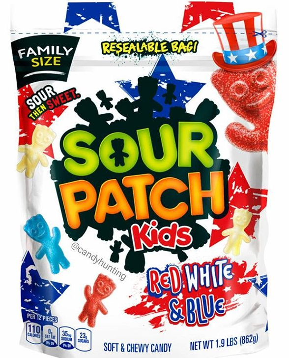 Sour Patch Kids Red White And Blue Sour Patch Kids Sour Candy Gummy Sweets