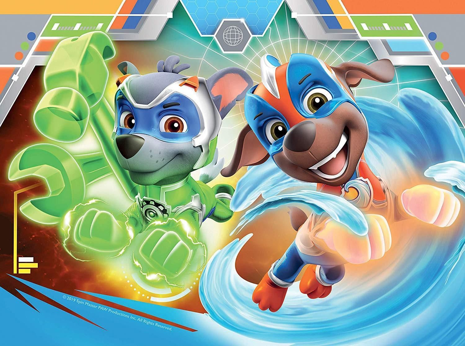 Ravensburger Paw Patrol Mighty Pups 4 In A Box Jigsaw Puzzles In 2020 Paw Patrol Paw Patrol Pups Paw
