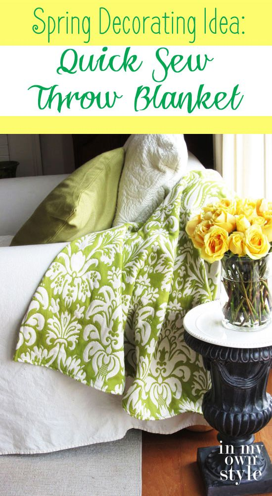 Get Ready For Spring Make Your Own Quick Sew Brightly Colored Throw Classy Make Your Own Throw Blanket
