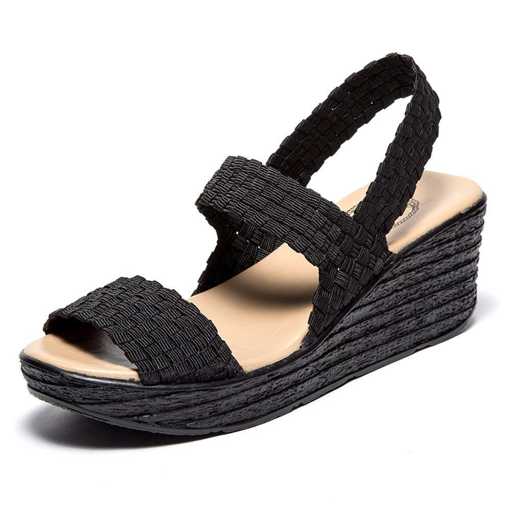 f95522099327 EnllerviiD Women Open Toe Woven Slingback Sandals Summer Mary Jane Platform  Wedges Shoes     Very nice of you to have dropped by to view the picture.