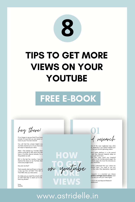 Get More Views On Youtube Free E Book E Book You Youtube Youtube