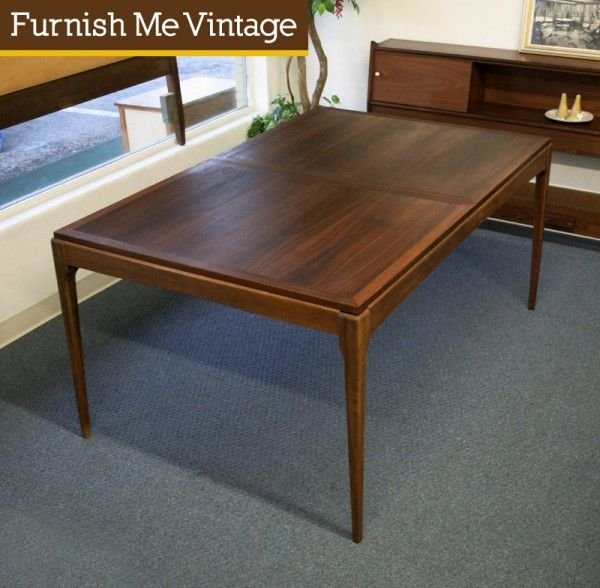 Lane Solid Walnut Mid Century Modern Dining Table