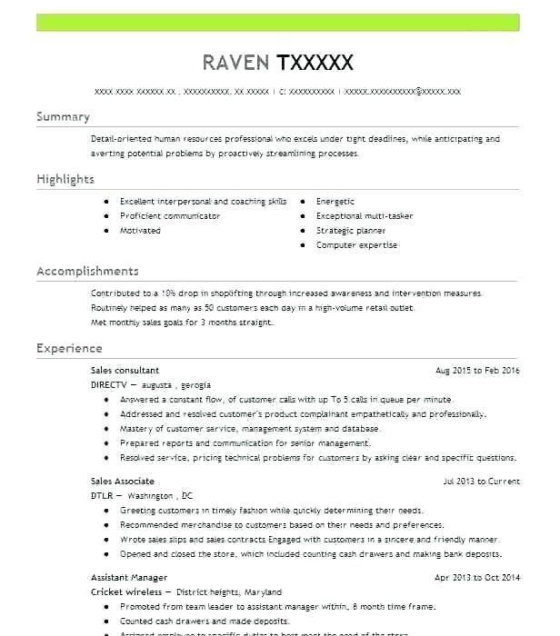 42A Resume Examples Resumeexamples