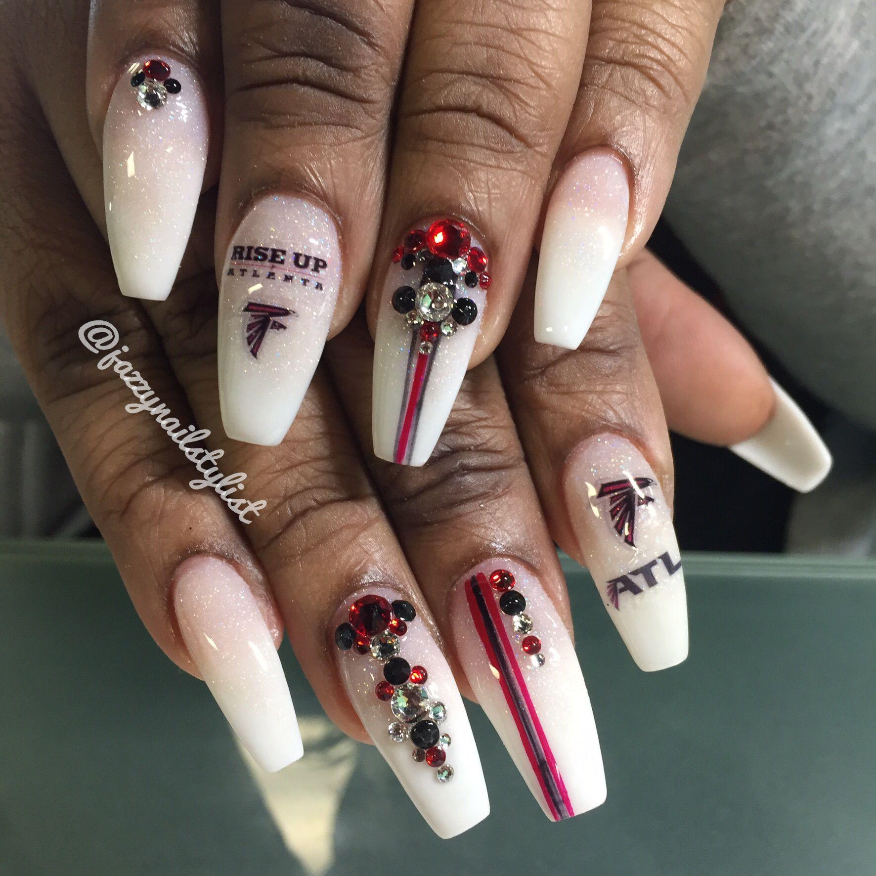 Atlanta Falcons nails   Nails   Pinterest