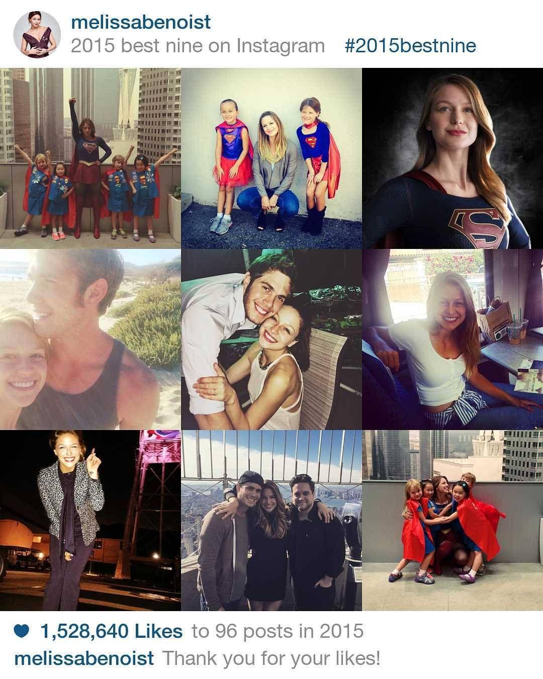 """""""#2015bestnine de nuestra #Supergirl @melissabenoist #MelissaBenoist"""""""
