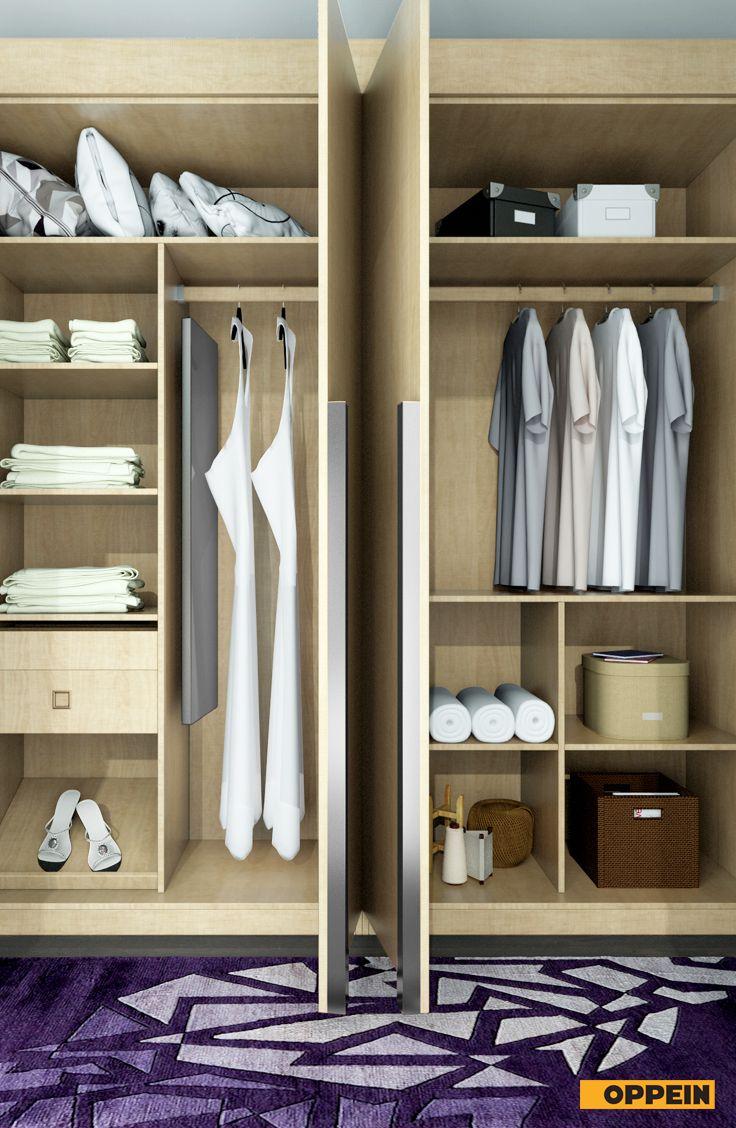wardrobebuilder Oppein wood grain wardrobe offered for