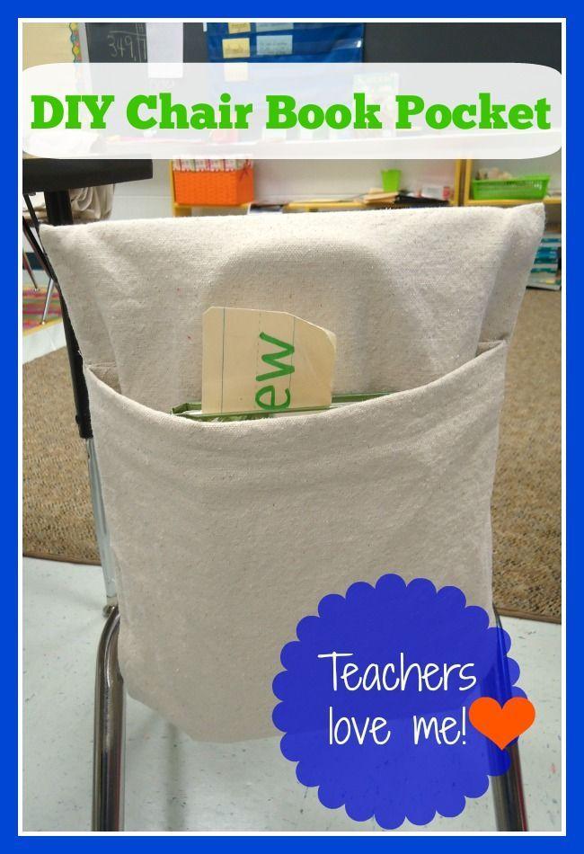 Teachers LOVE Me Classroom Chair Book Pocket DIY   Etsy ...