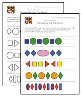 Preschool Pattern Recognition Worksheets Preschool Patterns