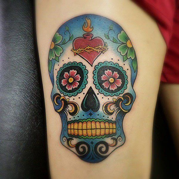 what do the designs on sugar skulls mean