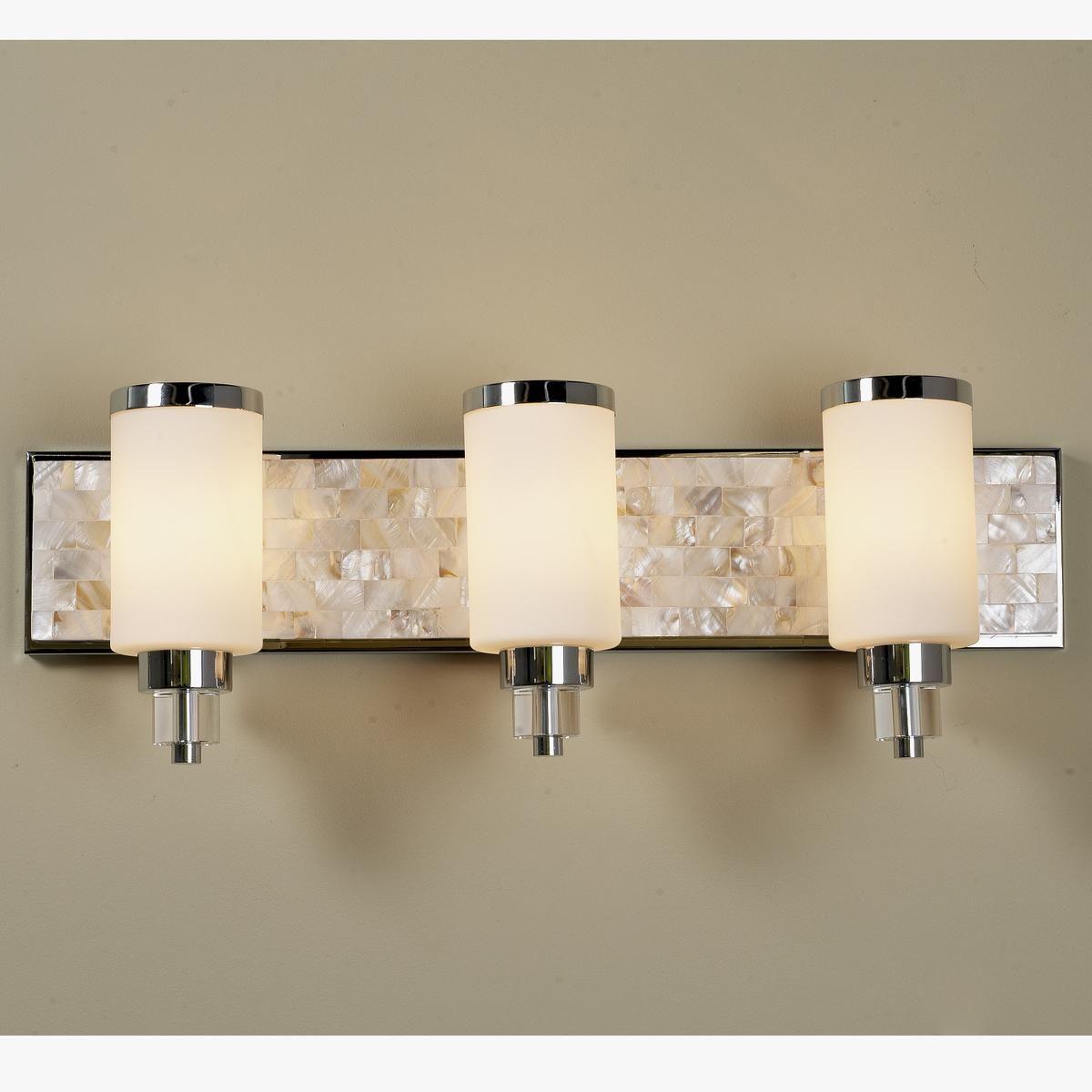 Mother Of Pearl Bath Light 3 Light Bath Light Bathroom Light Fixtures Vanity Light Bar