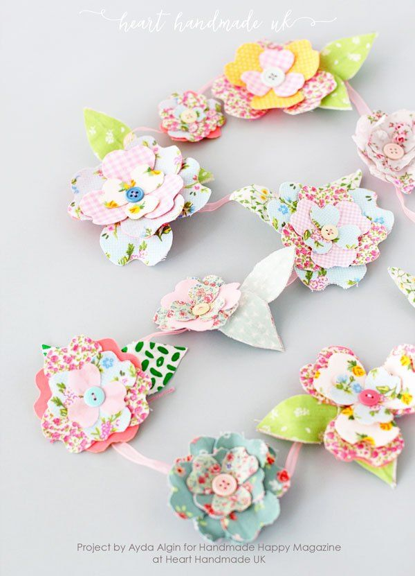 Una splendida ghirlanda di fiori in tessuto piuttosto bendy - Come fare Fabulous Bendy fiori per i carichi di Progetti artistici!