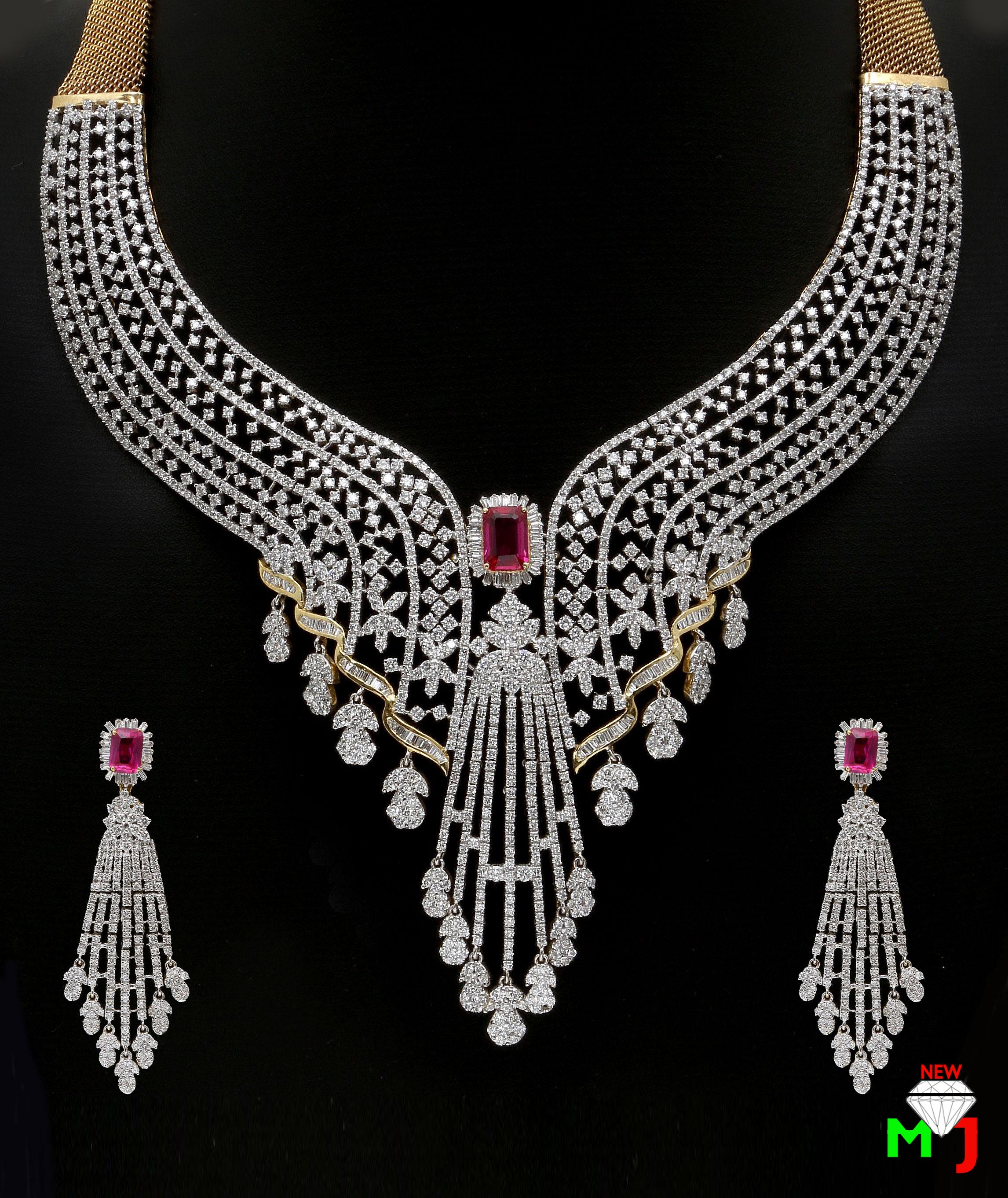 Beautiful diamond set by new maria jewellers. For more designs ...