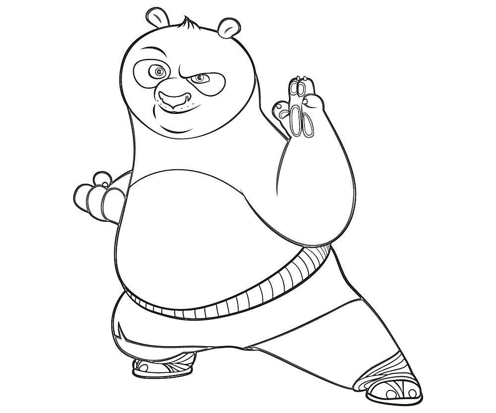 Coloring pages panda -  4 Top Kungfu Panda Printable Coloring Pages