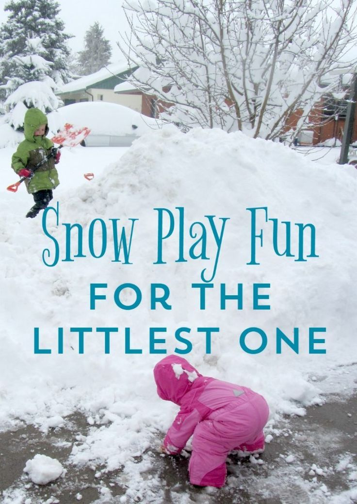 Snow Activities for Toddlers get outdoors