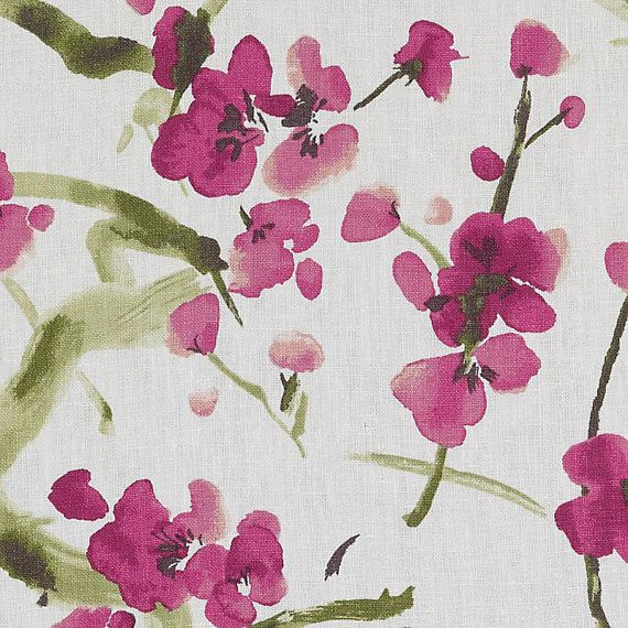 An Upholstery Weight Floral Linen Multipurpose Fabric In A