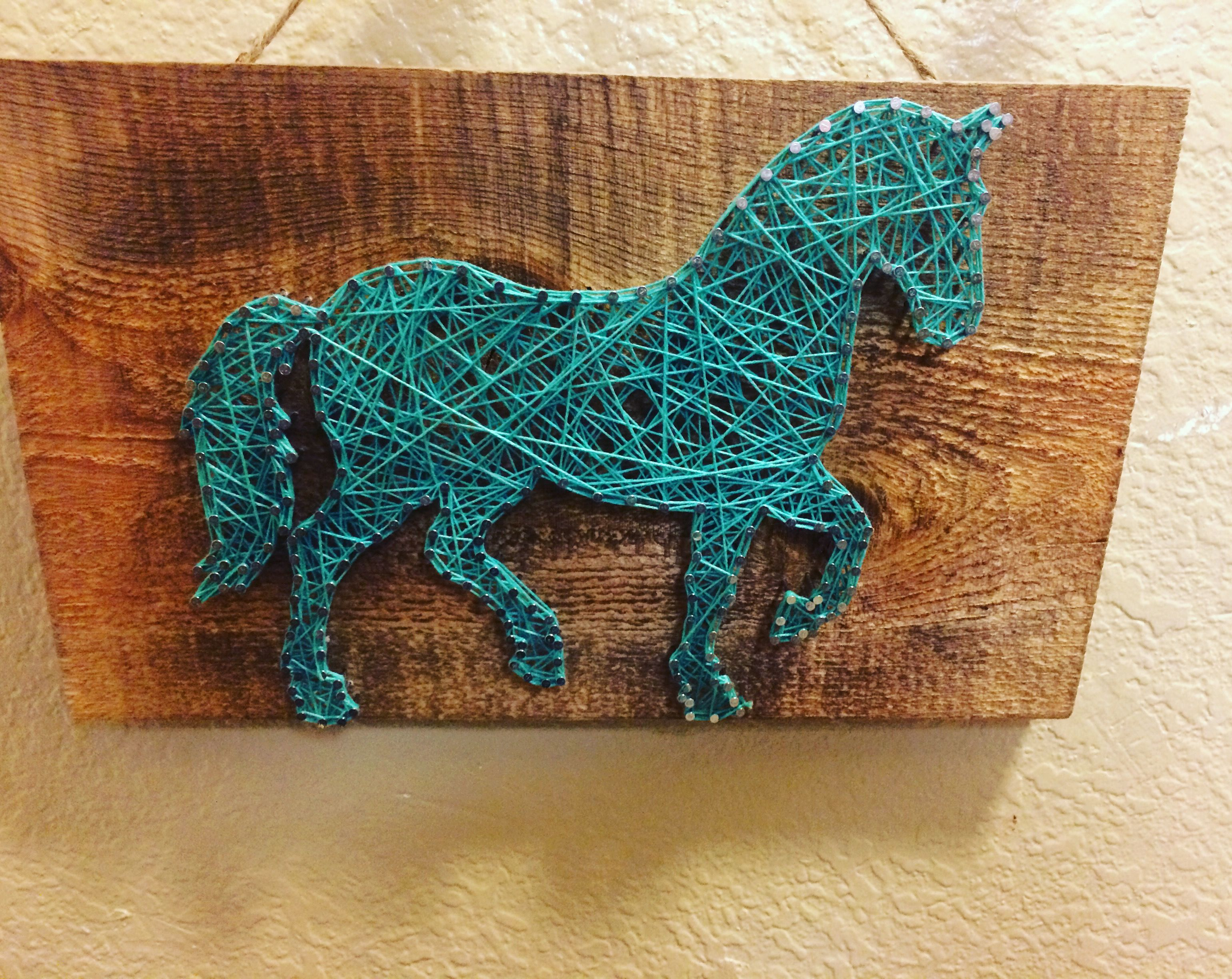String art horse DString | String Art | Pinterest | String art ...