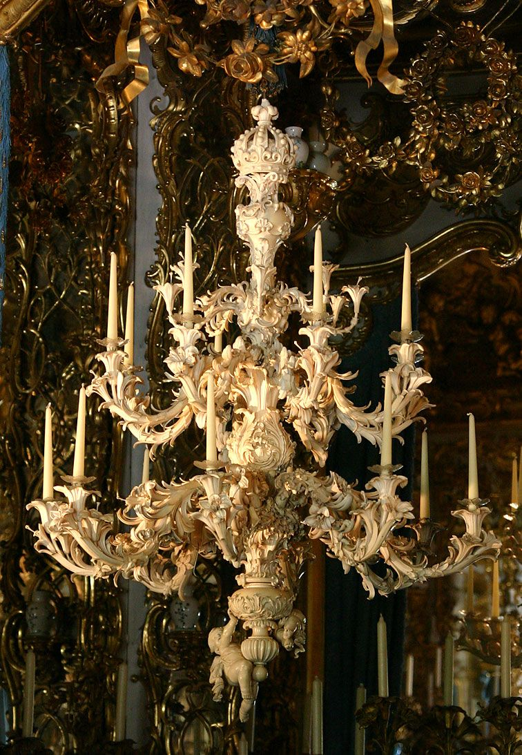 Ivory chandelier in linderhof palace built by king ludwig ii in ivory chandelier in linderhof palace built by king ludwig ii in southwest bavaria beginning in arubaitofo Images