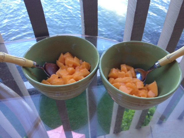 Healing the digestion -- start the day with papaya with a little fresh lime squeezed over it.