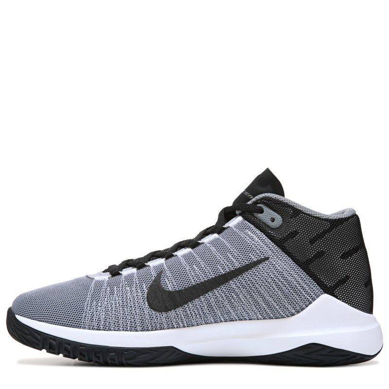 4c811004021cf6 ... discount code for nike kids zoom ascention basketball shoe grade school  shoes grey black 3.5 m