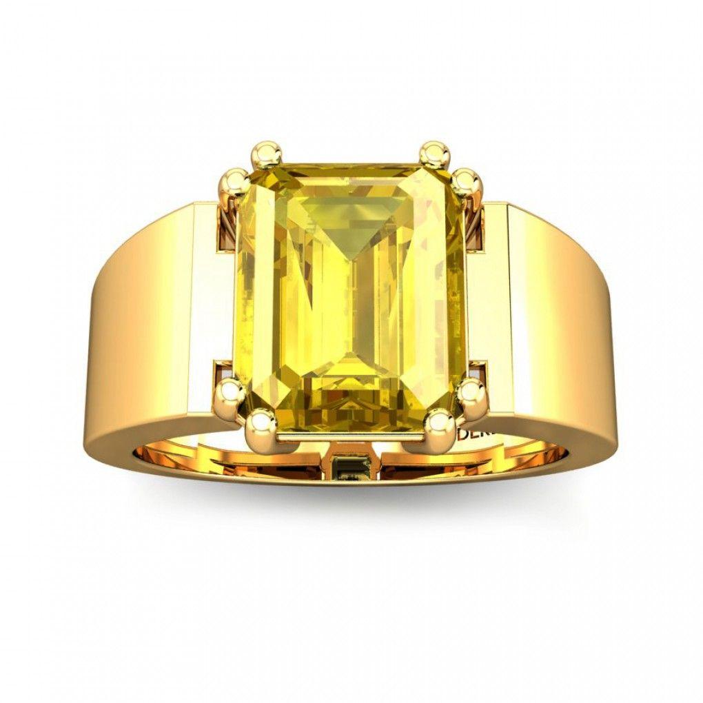 Roman Yellow Sapphire Ring Online Jewellery Shopping India | Yellow