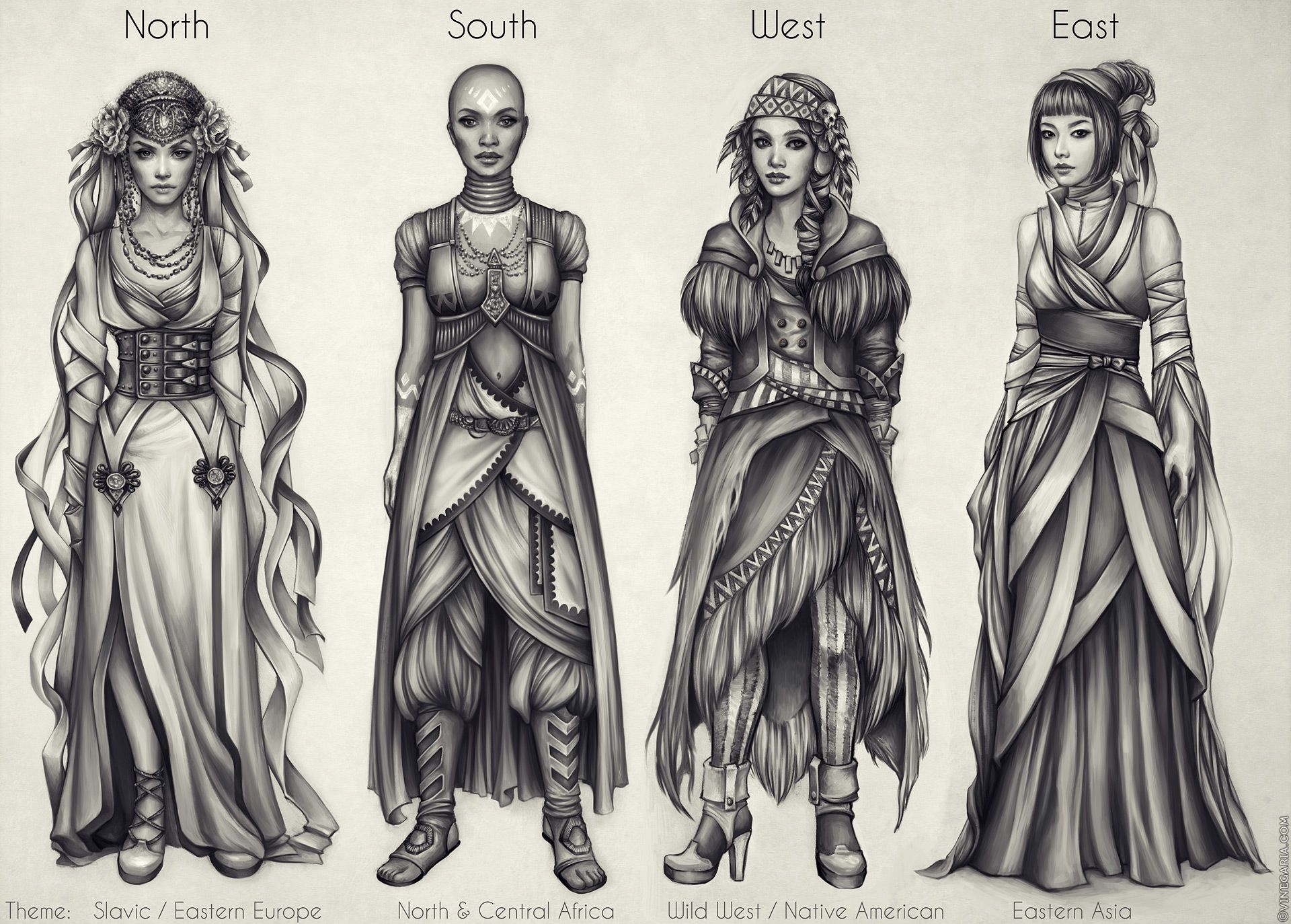 Costumes: North, South, West, East by vinegar female priestess ...