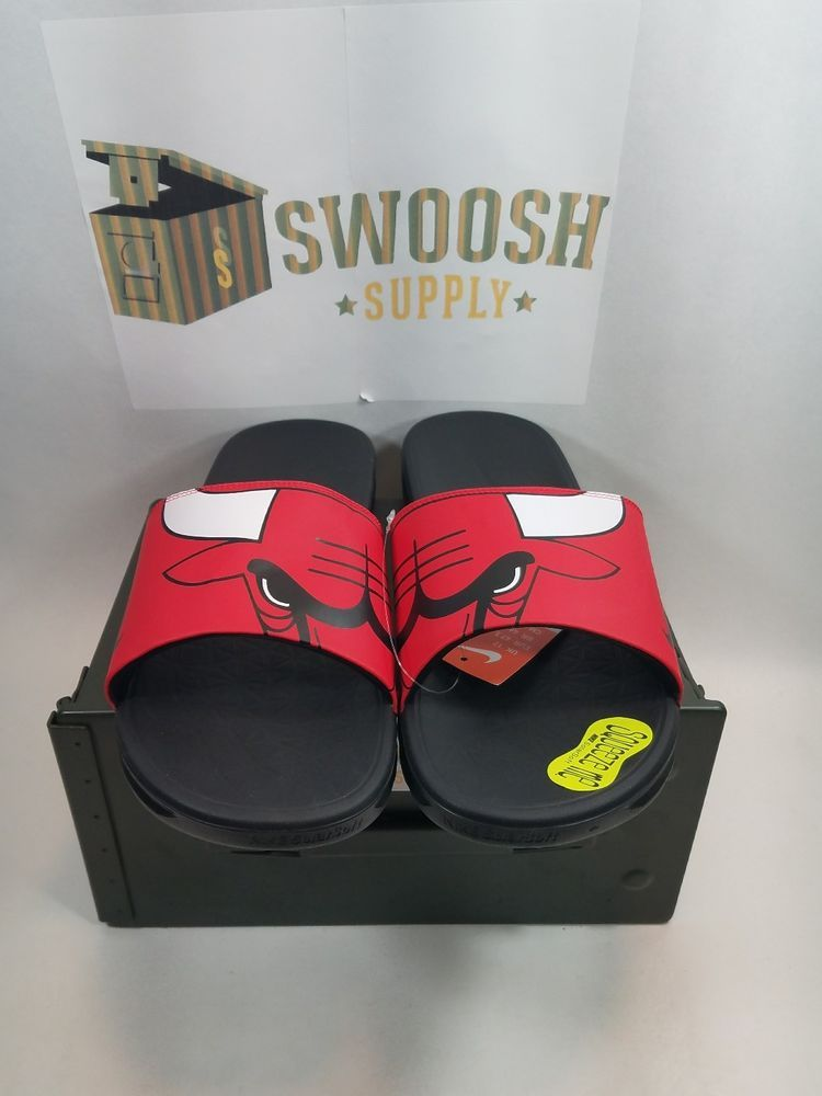 0cb919344f150e Nike Benassi Solarsoft NBA Chicago Bulls Men s Slides Slippers 917551-600  1710  Nike  Slidesslippers