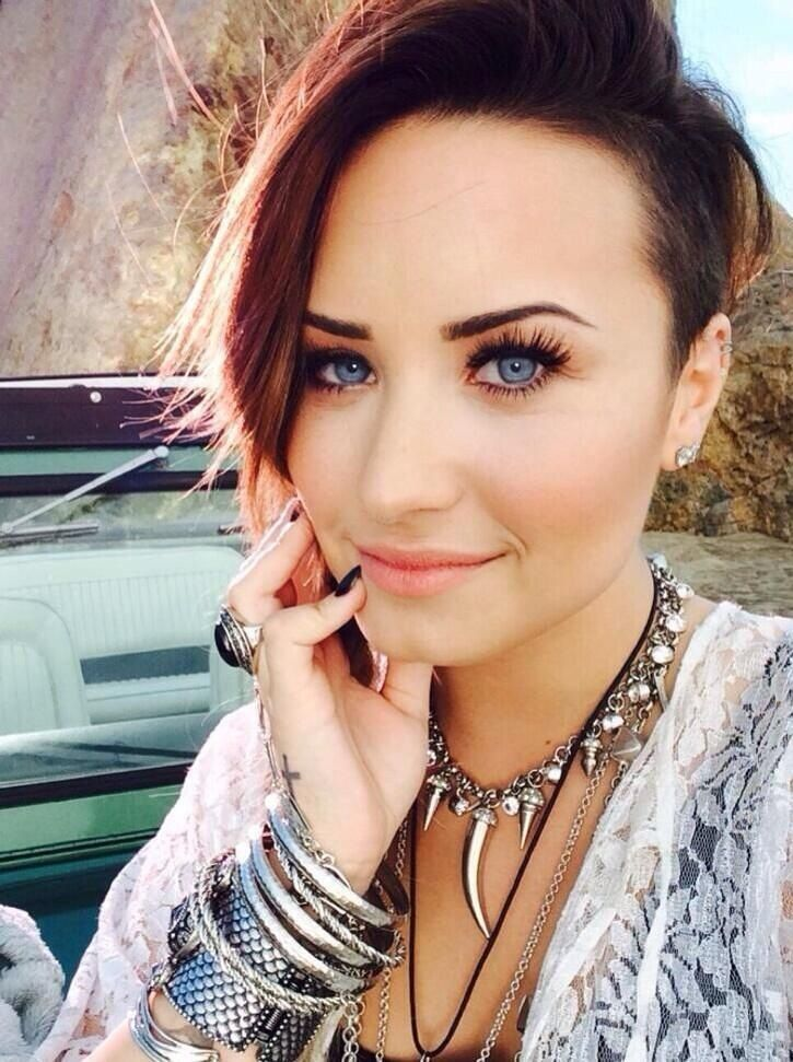 Demi Lovato With Blue Eyes