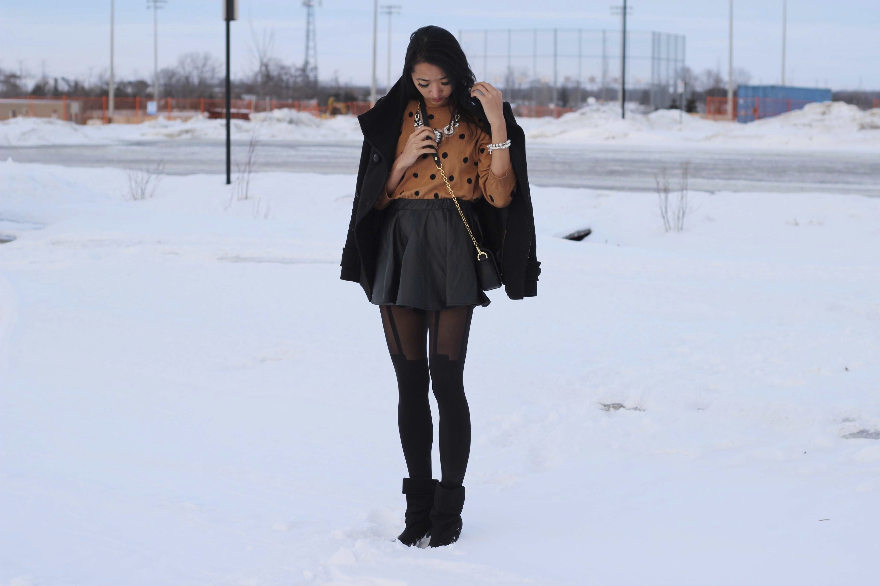 The Polkadot (By Jeannie Yeoh from http://www.leftinpink.blogspot.ca/) (http://www.whatiwear.com/look/detail/161923) #whatiwear #fashion #blogger #pattern #polkadot #wow #wiw #ootd