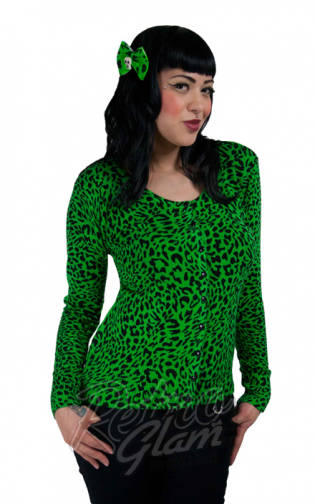 Retro Glam - Voodoo Vixen Green Leopard Cardigan also on eBay ...