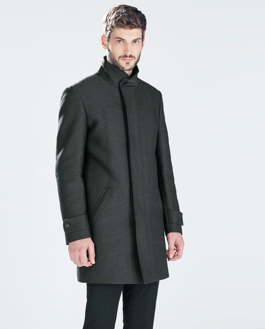 625de1a96 DIAGONAL FUNNEL NECK COAT-Coats-Coats and Trench Coat-MAN