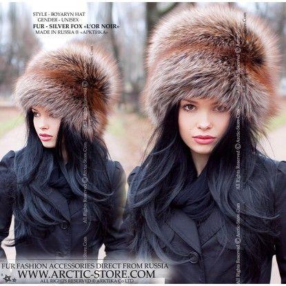 Boyaryn Luxe L Or Noir Fox Hat Fashion Photography Russian Style Hat Fur Hat
