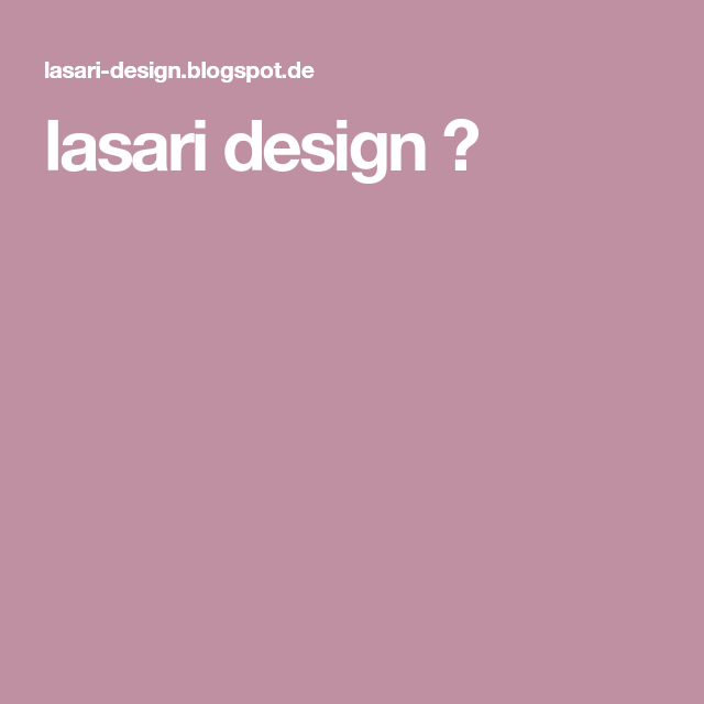 lasari design ✿