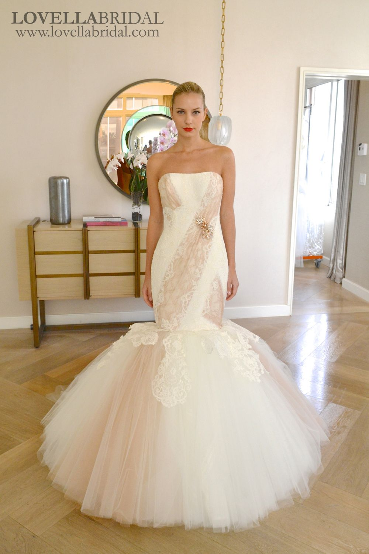 Edgardo Bonilla 2-tone wedding dress #bridalmarket | Wedding Dresses ...
