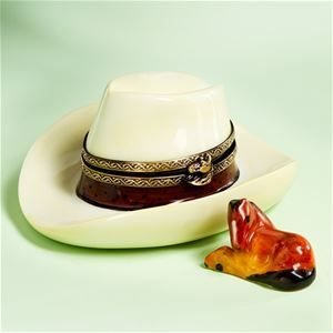 Limoges Cowboy Hat Box With Horse The Cottage Shop Limoges Boxes Hat Boxes Limoges