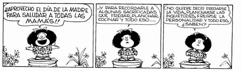 Día De La Madre Mafalda Comics Humor Words