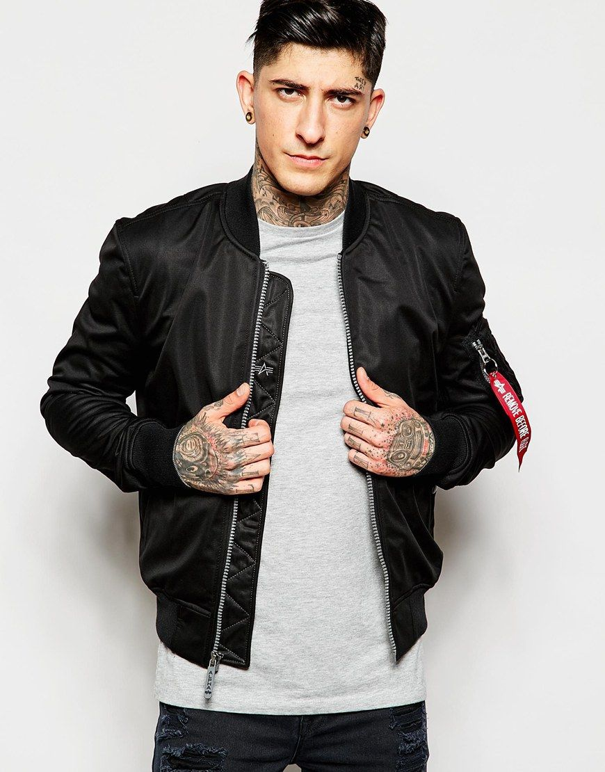 Image 1 of Alpha Industries Bomber Jacket with Patches | Asos ...