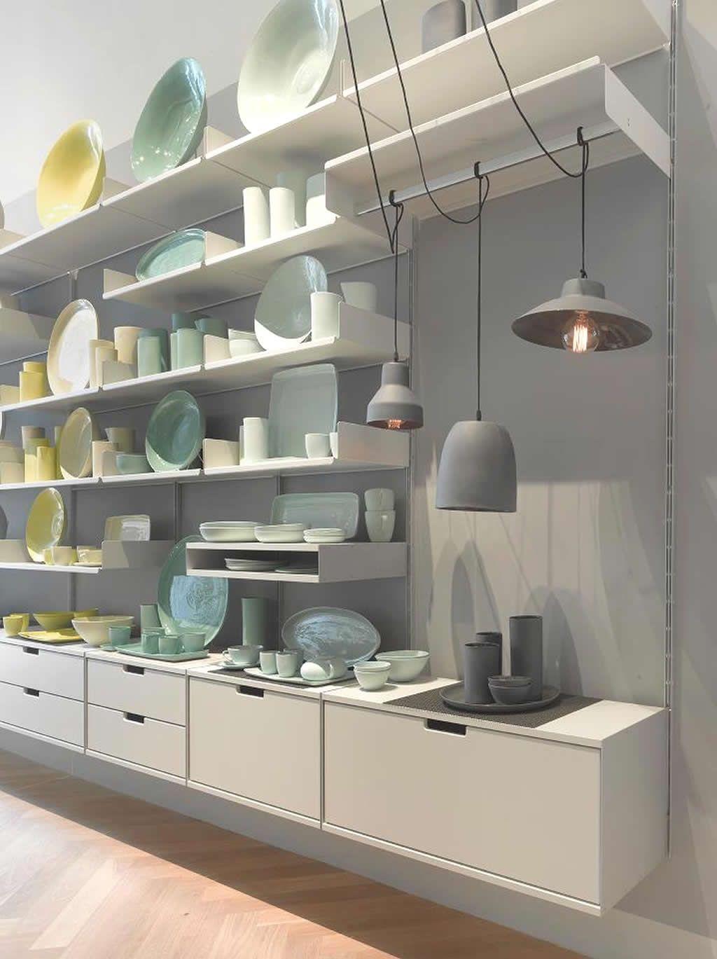 Retail Shop Shelving System Design Of Mud Australia Showroom New York