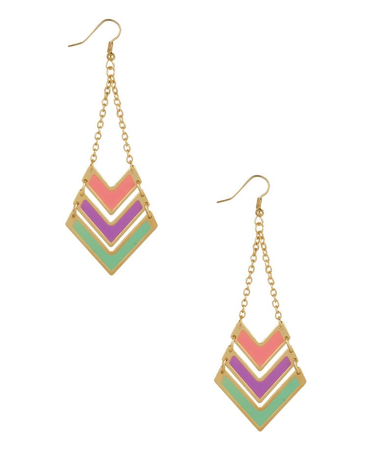 Colorful Arrowhead Earrings | FOREVER21 - $3.80