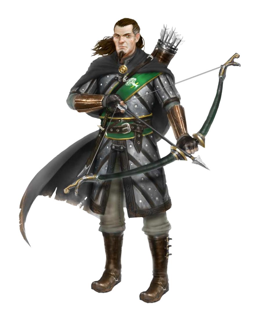 male human ranger archer weslen gavirk pathfinder