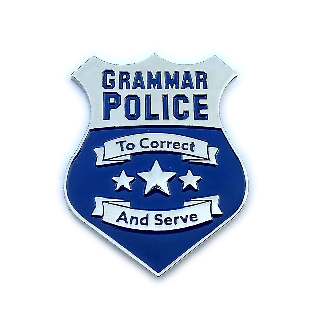 Grammar Police Enamel Pin Grammar Police Enamel Pins Grammar Police Badge